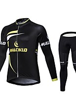 2017 Winter MALCIKLO Fleece Long Sleeve Cycling Jerseys Winter Outdoors O-Neck Mtb Cycling Clothing