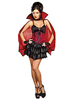 Cosplay Costumes / Party Costume Vampire Festival/Holiday Halloween Costumes Red / Black Solid Coat / Dress / Cloak Halloween Unisex