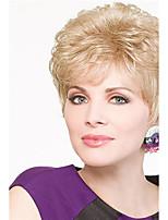 блондинка цвет короткий фигурные Европейский синтетические парики монолитным для женщин афро