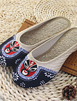 Women's Slippers & Flip-Flops Spring / Summer / Fall Slippers Linen Casual Flat Heel Others Gray / Beige Others