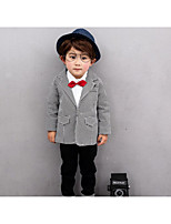 Boy's Casual/Daily Solid Clothing SetCotton Summer / Spring / Fall Black / White