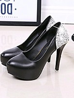 Women's Heels Spring / Fall Heels Dress Stiletto Heel Sparkling Glitter Black / Pink / Red / White Walking