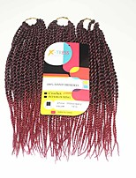 Senegal Twist Black Red Two Tones Synthetic Hair Braids 12inch Kanekalon 81 Strands 125g  Multipal Pack for Full Heads