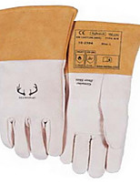 Wei Teshi 10-2304 Peel the white deer sleeve welding gloves labor on construction sites   Size 10
