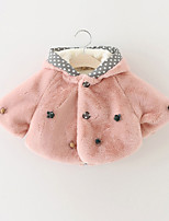 Girl's Casual/Daily Polka Dot BlouseRabbit Fur Winter / Spring / Fall Pink / White