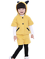 Girl's Casual/Daily Solid Clothing SetCotton / Rayon Winter / Spring / Fall Yellow