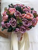 Свадебные цветы Круглый Розы Букеты Свадьба / Партия / Вечерняя Атлас 23 см