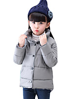 Girl's Casual/Daily Solid Down & Cotton PaddedCotton Winter / Spring / Fall Black / Red / Gray