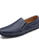 Men's Loafers & Slip-Ons Spring / Fall Comfort Fabric Casual Flat Heel Slip-on Black / Blue / Brown Sneaker