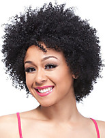 Short Black Curly Fluffy Wig Afro African American Wigs For Black Women Synthetic Peruca Cosplay Fashion Party