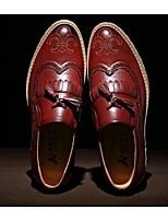 Men's Loafers & Slip-Ons Spring / Summer / Fall / Winter Closed Toe Microfibre Outdoor Flat Heel Tassel