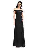 TS Couture® Formal Evening Dress Sheath / Column Off-the-shoulder Floor-length Chiffon with