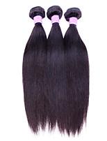 3 Pieces Straight Human Hair Weaves Peruvian Texture Human Hair Weaves Straight