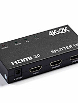HDMI Splitter 1x2 4K*2K One HDMI Input Two HDMI Output Metal House Support Long Distance 4K Signal Output