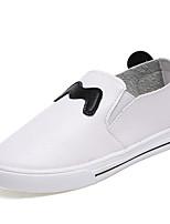 Mädchen-Loafers & Slip-Ons-Lässig-PU-Flacher Absatz-Komfort-Schwarz Rosa Weiß