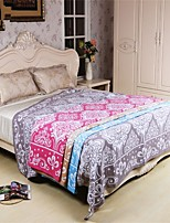 1 PC Full Cotton Blanket 78 by 90 inch Floral Pattern