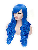 Cosplay Wig Direct Selling Fashionable Dyed Blue
