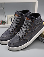 Men's Sneakers Fall Comfort PU Casual Flat Heel  Black / Blue / Green / Gray Sneaker