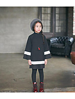 Girl's Casual/Daily Striped Dress / Overall & JumpsuitCotton Spring / Fall Black