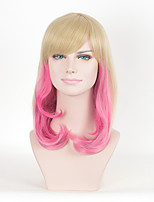 blond couleur mixte femmes afro rose synthétique mode perruques perruques cosplay bouclés