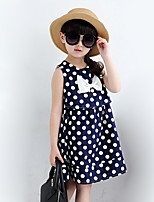 Girl's Casual/Daily Polka Dot Dress,Polyester Summer Red