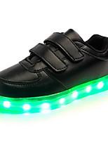 Per bambino-Sneakers-Casual / Sportivo / Serata e festa-Comoda / Punta arrotondata / Ballerine-Piatto-Finta pelle-Nero / Bianco