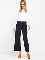 c + impresionar sólidos negro elegante pantsstreet flojos de las mujeres