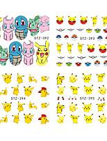1 Sheet Nail Sticker Water Transfer Decal Cartoon Design Beauty Nail Art Care Sticker Manicure STZ392-404