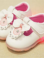 Girl's Sneakers Fall Comfort / Round Toe Canvas Casual Flat Heel Lace-up Pink / White Others