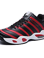 Men's Sneakers Spring / Fall Comfort Fabric Casual Flat Heel  Black / White / Black and Red Sneaker