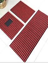 a maneira nova de piso tapetes listrados tapete de plástico PVC terno geral de três peças