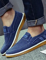Men's Loafers & Slip-Ons Summer Canvas Casual Flat Heel Others Black Blue Others