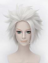 del bicchierino di colore bianco parrucca riccia cosplay sintetica parrucca afro-americano