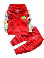Мальчик Набор одежды,На каждый день,С принтом,Хлопок,Зима,Синий / Зеленый / Красный