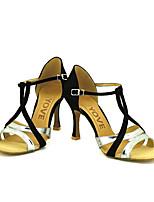 Chaussures de danse(Bleu / Violet / Rouge / Argent / Or) -Personnalisables-Talon Personnalisé-Paillette Brillante-Latine / Salsa