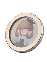 High-grade Solid Circular Wooden Frame Home Decoration Furnishing Style Creative Studio Photo Wall Frame Color Random