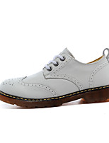 Women's Oxfords Spring Comfort Leather Casual Flat Heel Others Black / Brown / White Others
