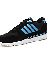 Men's Sneakers Spring / Fall Comfort / Round Toe Athletic / Casual Flat Heel Lace-up Blue / Red / White Sneaker