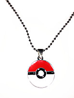 Jewelry Inspired by Pocket Monster Ash Ketchum Anime Cosplay Accessories Necklace White / Red / Silver Alloy Male / Female