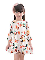 Girl's Casual/Daily Floral DressOthers Summer White