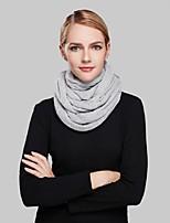 Bufanda Mujer Casual-Acrílico Un Color Bufanda Circular