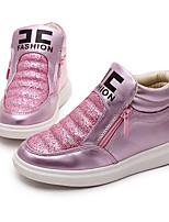 Girl's Sneakers Fall PU Casual Flat Heel Chain Pink Gold