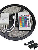 5M RGB SMD5050 300LEDS Led Strip Light  24 Key Remote&5A Power(DC12V)