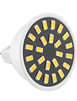 5W GU5.3 (MR16) LED-spotlampen MR16 24 SMD 5733 400-500 lm Warm wit / Koel wit Decoratief AC 220-240 / AC 110-130 V 1 stuks