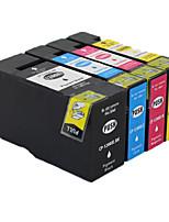 adequado para cartucho de impressora um grupo de quatro cores amarelo azul vermelho preto