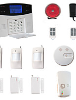 LCD Wirless GSM/PSTN Home House Office Security Burglar Intruder Alarm System Smoke Alarm System Gas Alarm System