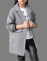 Girl's Casual/Daily Striped Jacket & CoatCotton Spring / Fall Blue / Red / Gray