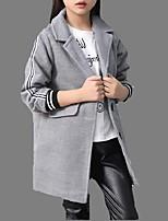 Giubbino e cappotto Girl Casual A strisce Cotone Primavera / Autunno Blu / Rosso / Grigio