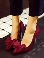 Women's Heels Summer PU Casual Stiletto Heel Others Black Green Burgundy Walking