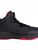 גברים-נעלי אתלטיקה-עור / סינטתי-שטוחות-לבן / שחור ואדום / שחור ולבן-קז'ואל / ספורט-עקב שטוח